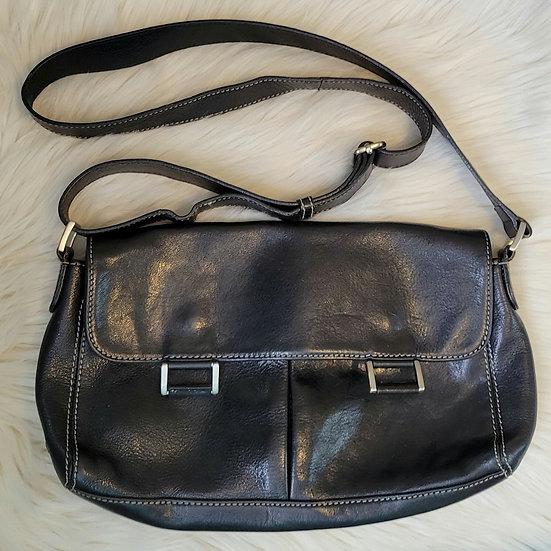 Bandolino Black Leather Crossbody Purse