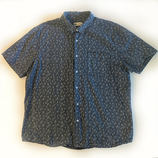 Short Sleeve Palm Tree Button Down Shirt