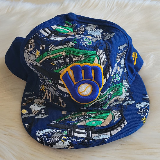 Milwaukee Brewers Flat Brimmed Hat