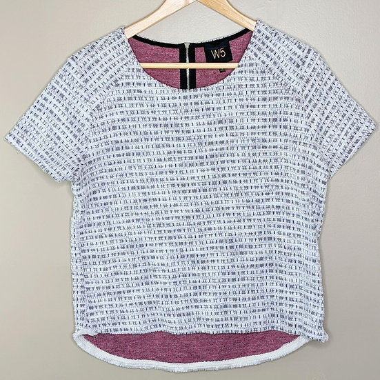 W5 Tweed Short Sleeve Blouse