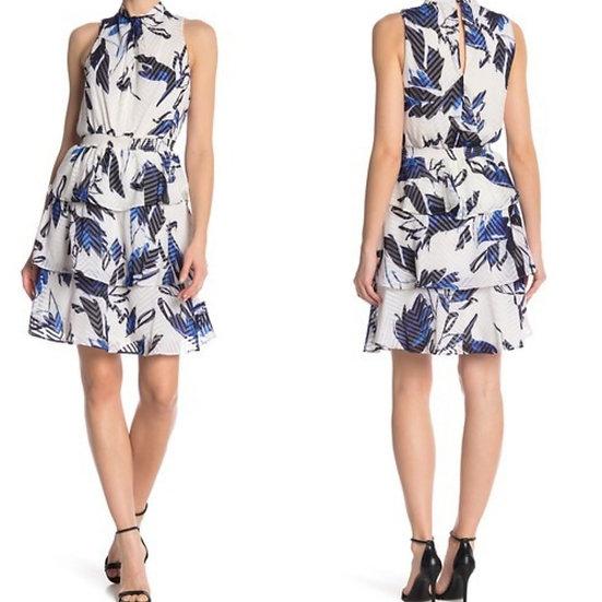 Julia Jordan Textured Woven Floral Dress