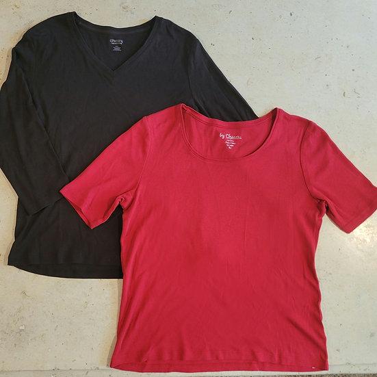 Chico's Solid True Color T-Shirts Bundle
