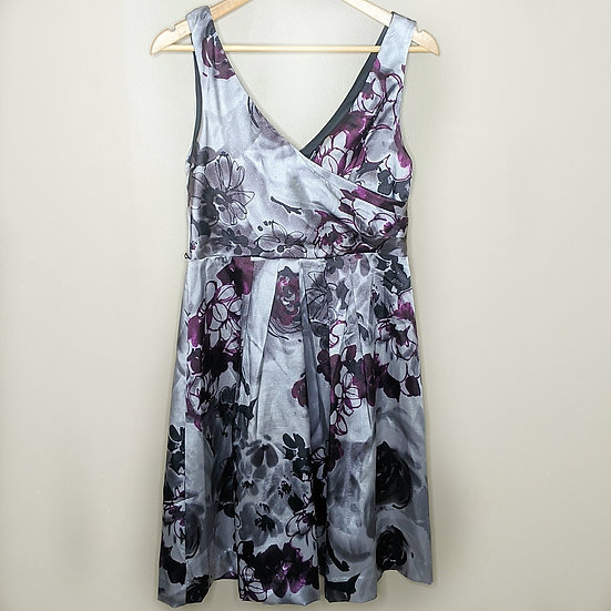 Maurices Floral Silk-like Formal Dress