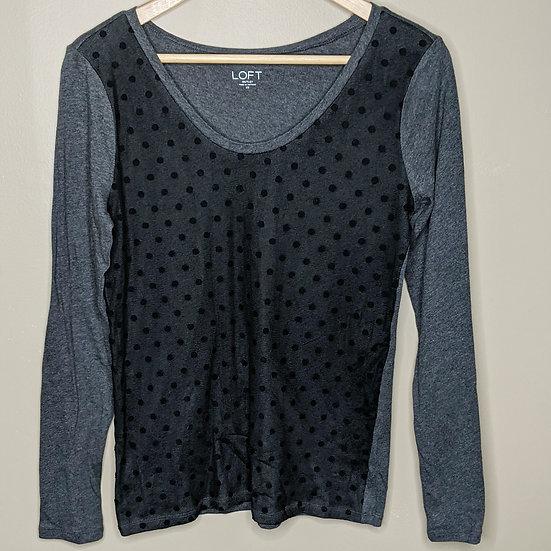 Ann Taylor LOFT Polka Dot Long Sleeve Shirt