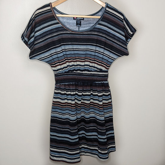 Love Delirious Striped Short Sleeve Tunic Dress