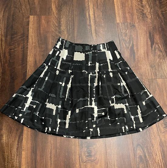 Express Printed A-line Skirt