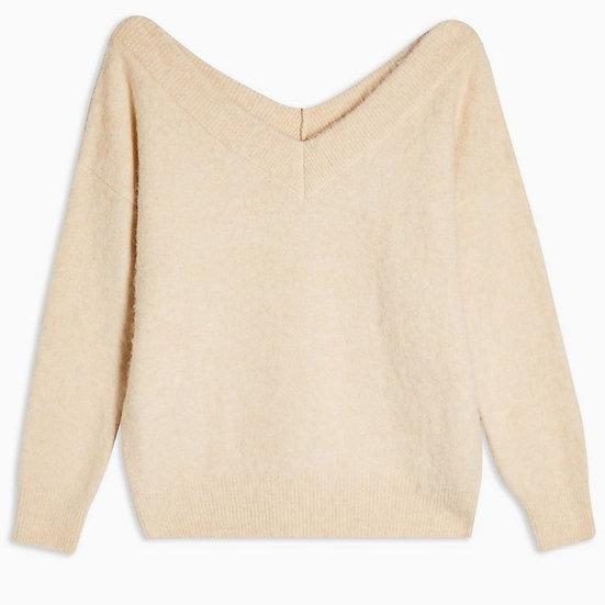 Topshop V-Neck Long Sleeve Sweater