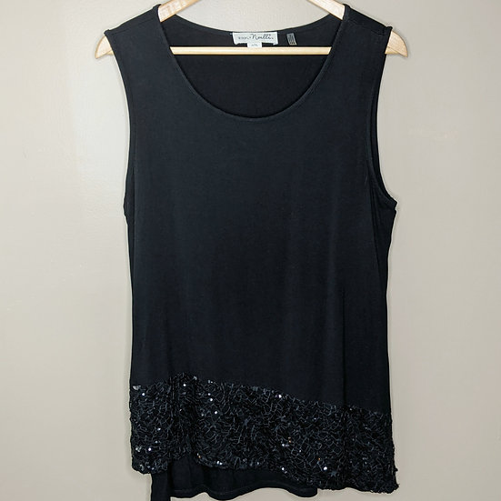 Simply Noelle Sequins Asymmetrical Tank Top
