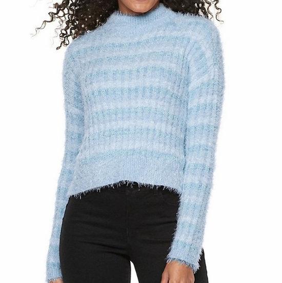Candie's Eyelash Fuzzy Turtleneck Sweater
