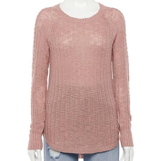 Pink Republic Braided Raglan Sweater