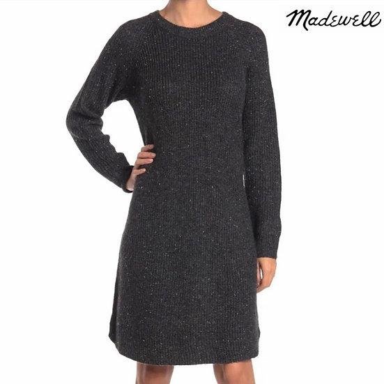 Madewell Curved-Hem Sweater Dress