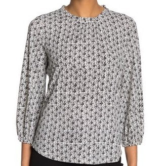 Adrianna Papell Quarter Bubble Sleeve Blouse