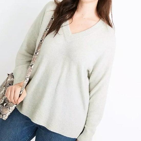 Madewell Bartlett V-neck Wool Sweater