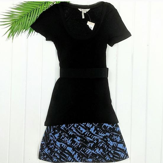 BCBGeneration Black Overlay Dress