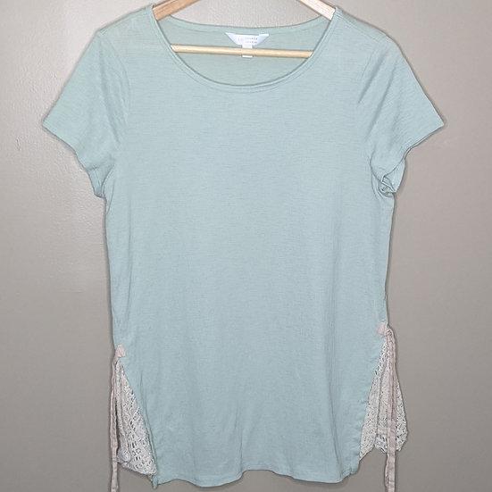 LC Lauren Conrad Mint Short Sleeve Tunic