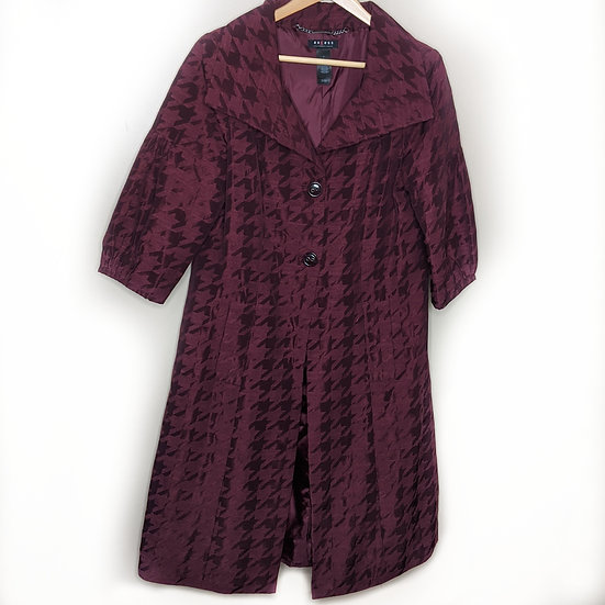 Axcess by Liz Claiborne Burgundy Elegant Trench Coat