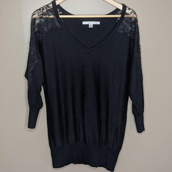 LC Lauren Conrad Lace Shoulder Sweater