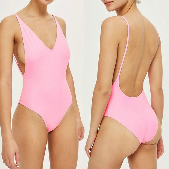 Topshop Pamela Plunge One-piece Swimsuit