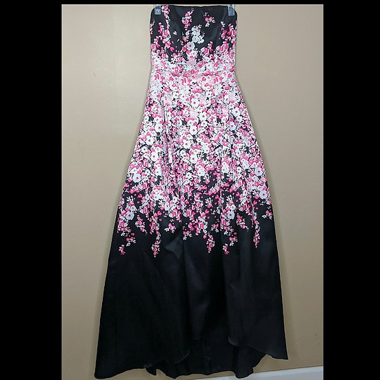 Windsor Strapless Floral Evening Gown
