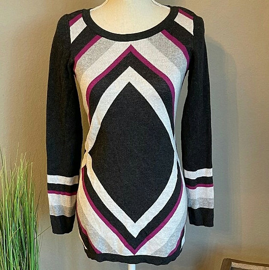 INC International Concepts Geometric Tunic Sweater