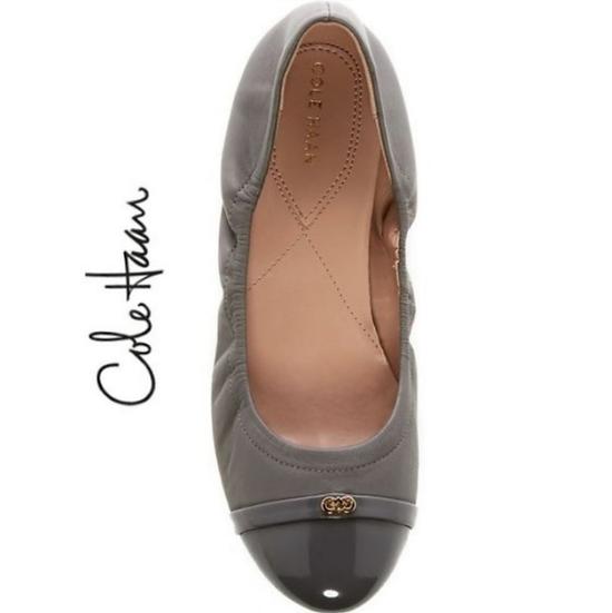 Cole Haan Gray Elsie Logo Ballet II Flats