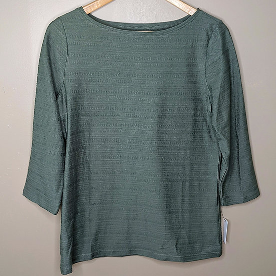 Talbots Olive Green Cotton Blouse