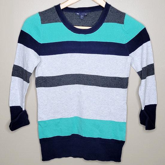 Gap Striped 3/4 Length Sleeve Sweater