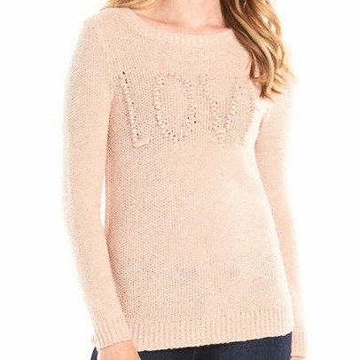 "LC Lauren Conrad ""Love"" Knit Sweater"