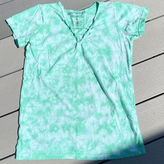 Southern Spirit Twist V-neck Tie Dye T-shirt