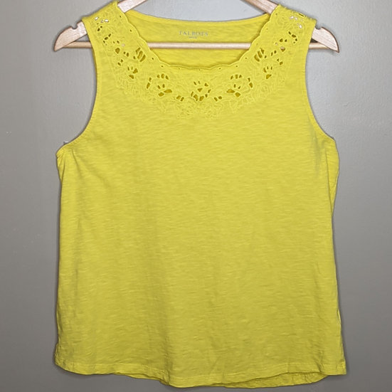 Talbots Relaxed Fit Cutout Tank Top
