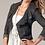 Thumbnail: CAbi Waxed Linen Cropped Moto Jacket