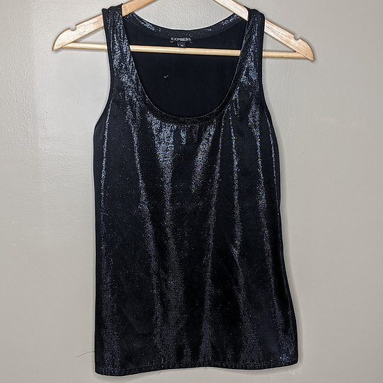 Express Shimmery Metallic Tank Top
