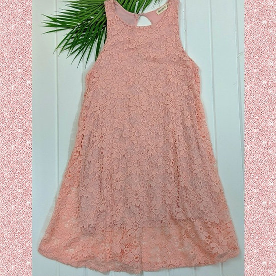 Ginger G Floral Lace Overlay Dress