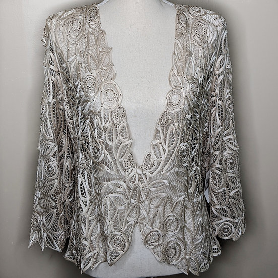 Soulmates Button Beaded Sheer Cardigan