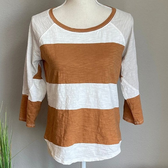 Maurices Color Block Mustard Blouse
