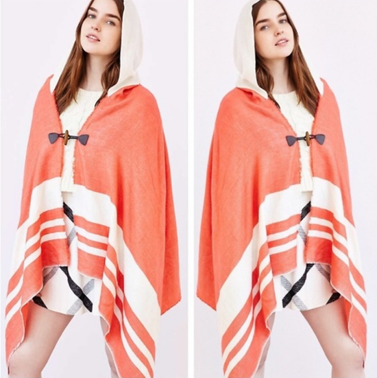 Urban Outfitters Blanket Hooded Poncho
