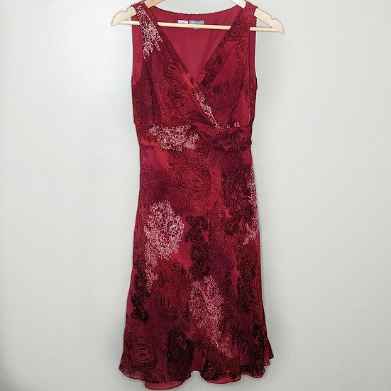Ann Taylor 100% Silk Formal Mock Wrap Dress
