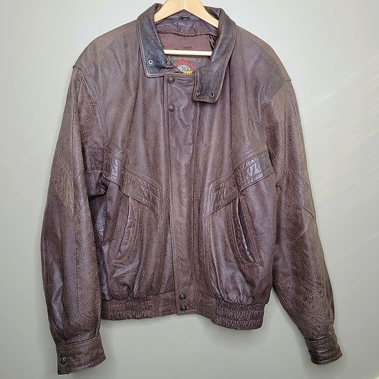 Wilsons Leather Brown Bomber Jacket