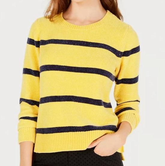 Maison Jules Soft Chenille Striped Sweater