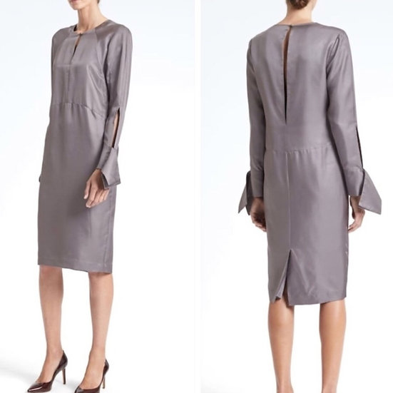 Banana Republic Silk Long Sleeve Sheath Dress