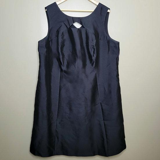 Talbots Silk-blend Black Sleeveless Dress
