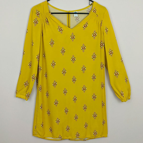 Old Navy Long Sleeve Mustard Dress