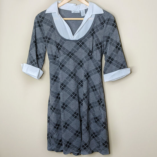 Red Paint Plaid School Girl Tunic