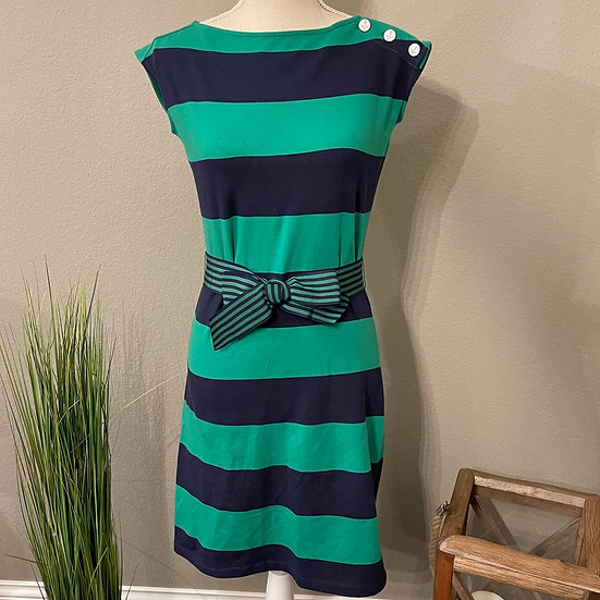 Tommy Hilfiger Striped Belted Nautical Dress