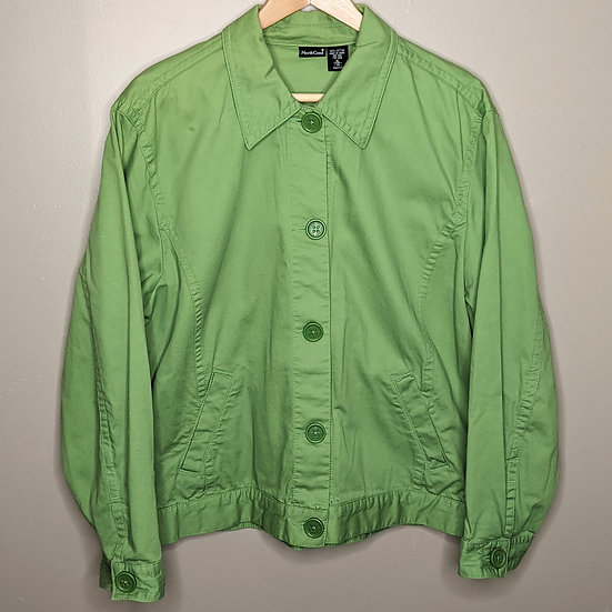 Northcrest Cotton Button Up Fall Jacket