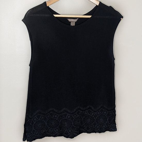 Bit & Bridle Embroidered Ribbed Blouse