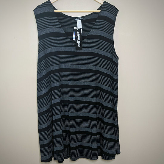 Double Take Striped Relaxed Fit Tank Top