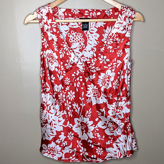 Mossimo 100% Silk Floral Tank Top