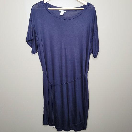 H&M Navy Blue Short Sleeve T-shirt Sundress