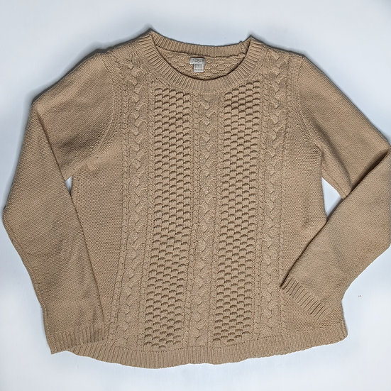 J. Crew Wool Blend Cable Knit Pullover Sweater